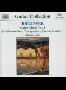 c1689 Brouwer: Ricardo Cobo: Guitar Music Vol. 1 (Estudios Sencillos: Tres Apuntes: Canción De Cuna)