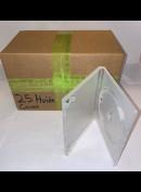 Pakke med 25 Stk. Gennemsigtige DVD-covers (10 mm. alm. tykkelse (Til 1 DVD pr. cover)