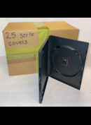 Pakke Med 25 Stk. Sorte Enkelt-DVD-covers (10 mm. alm. tykkelse) (Til 1 DVD pr. cover)