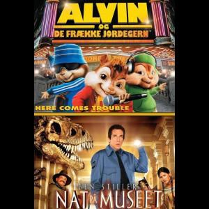Alvin Og De Frække Jordegern + Nat På Museet  -  2 disc