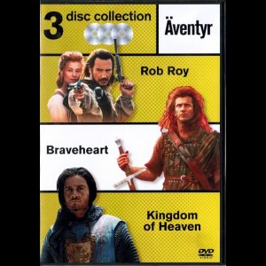 Rob Roy + Braveheart + Kingdom Of Heaven  -  3 disc