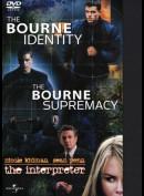 The Bourne Identity + The Bourne Supremacy + The Interpreter