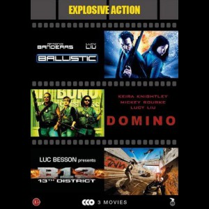 Explosive Action: Ballistic + Domino + B13: District 13  -  3 disc