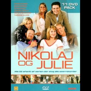 -2277 Nikolaj Og Julie Boksen  -  11 disc (MANGLER YDERSTE PAPCOVER)