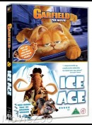 OPRETTES SOM UDEN COVER        Garfield + Ice Age  -  2 disc