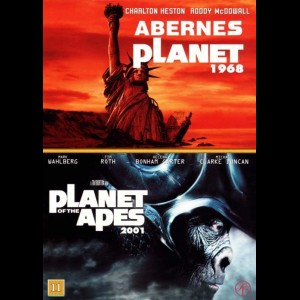 Abernes Planet (1968) + Planet Of The Apes (2001)  -  2 disc