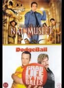 Nat På Museet + Dodgeball  -  2 disc